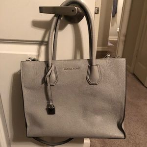 Michael Kors Mercer Leather Grey Tote